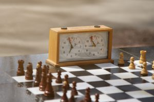 Everything is ready for the new chess game to begin